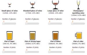 Comprar calorias bebidas alcoholicas