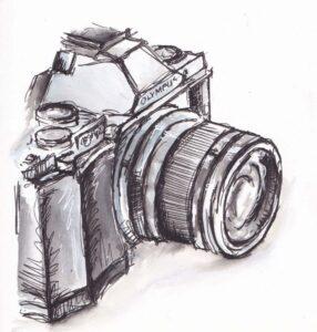 Comprar cámara de fotos dibujo