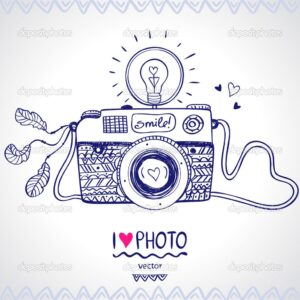 Comprar camara de fotos ilustracion