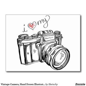 Comprar dibujo camara de fotos vintage